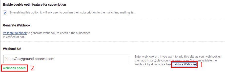 validate webhook