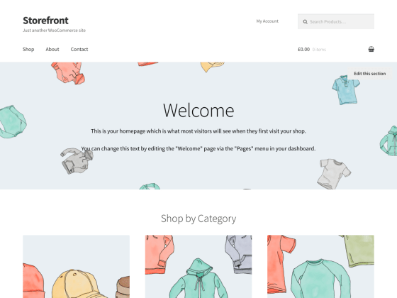 storefront theme, WordPress Themes