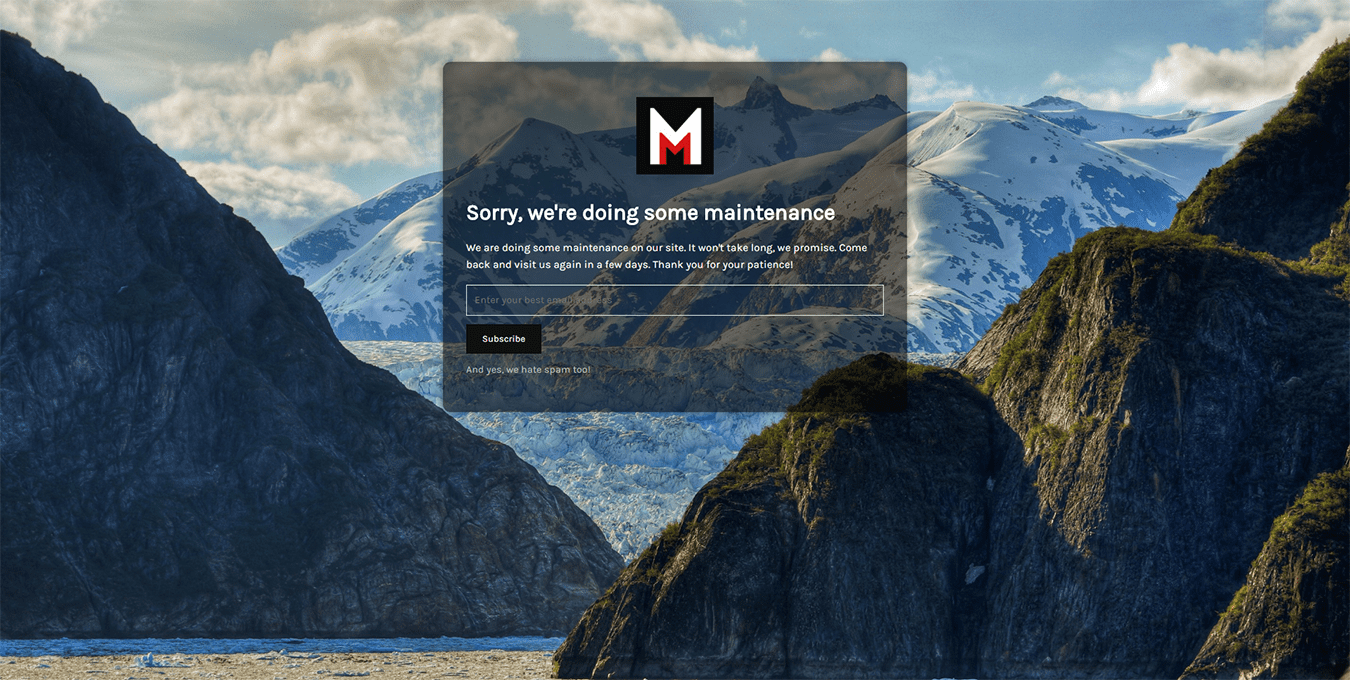 Minimal Coming Soon & Maintenance Mode – Coming Soon Page