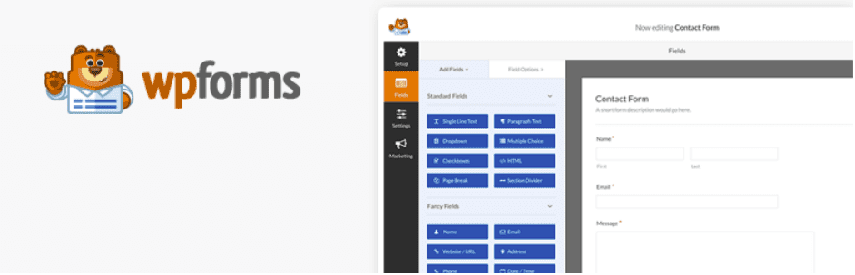 WP Forms, WordPress plugin