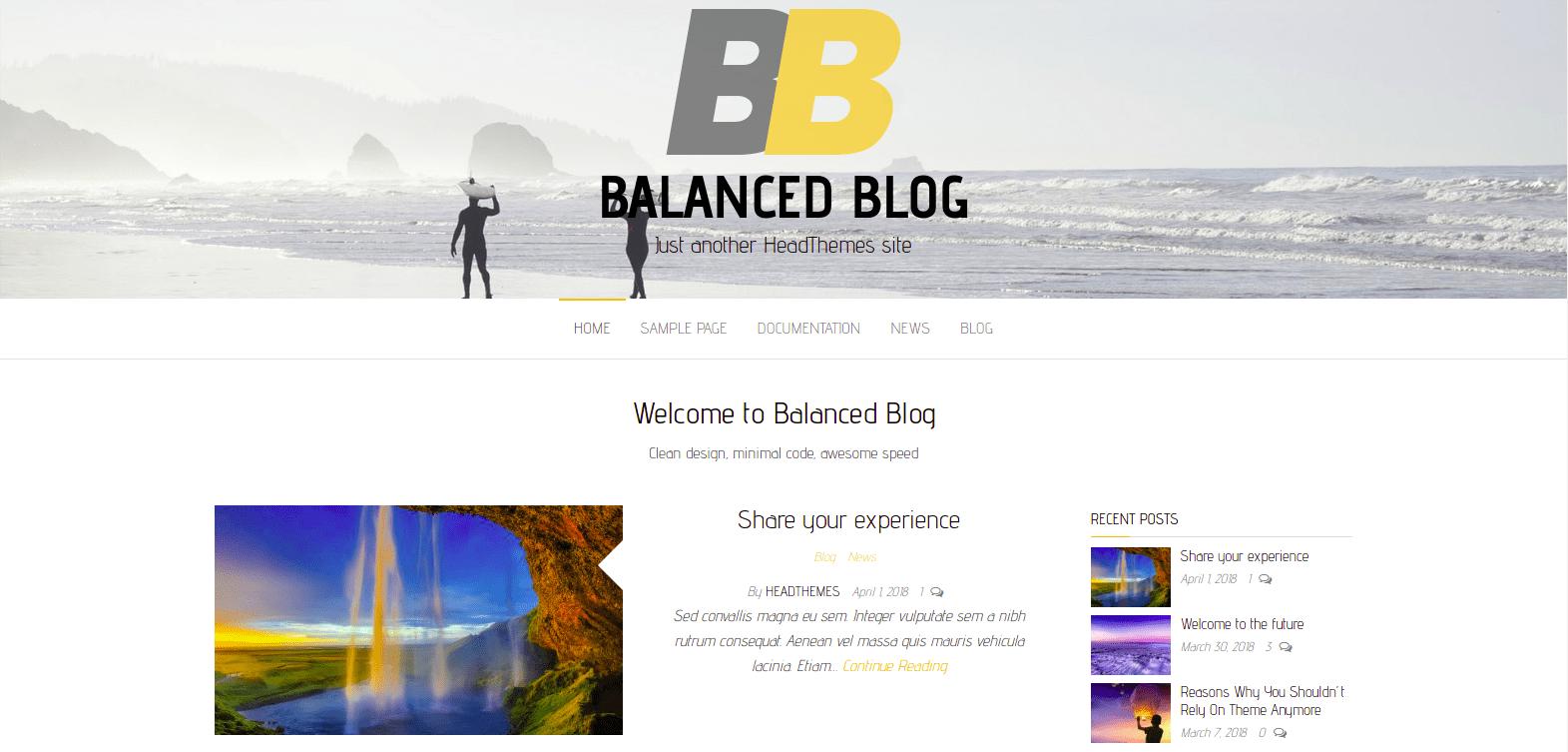 Download Balanced Blog WordPress Theme