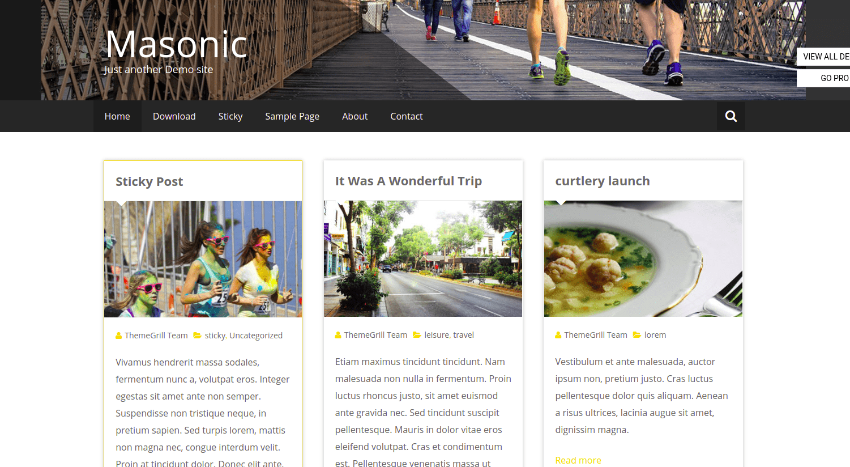 Masonic - WordPress Themes for Blogs