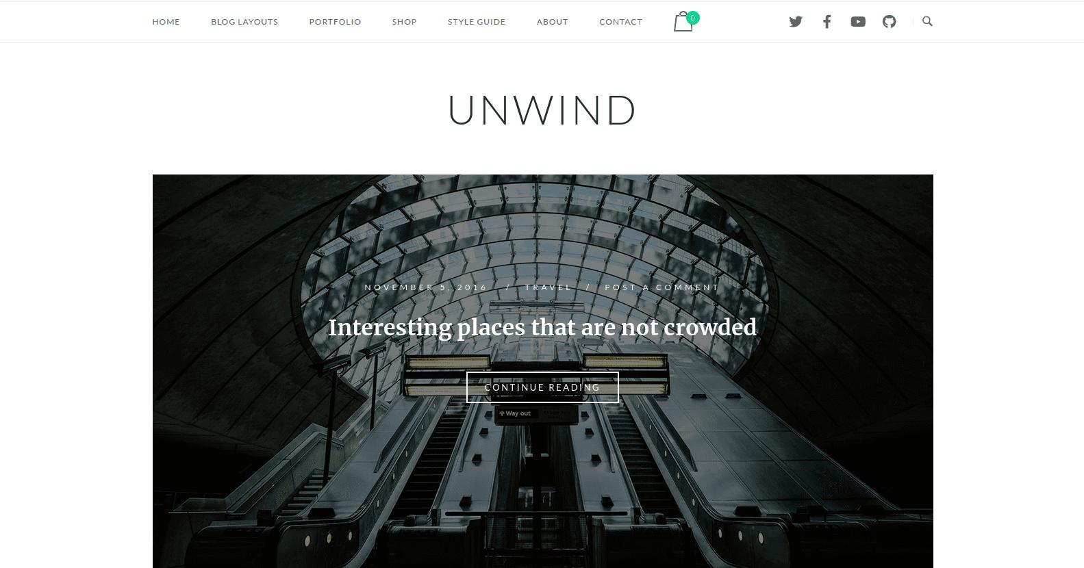SiteOrigin Unwind