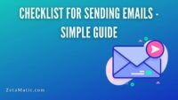 Checklist for Sending Emails - Simple Guide