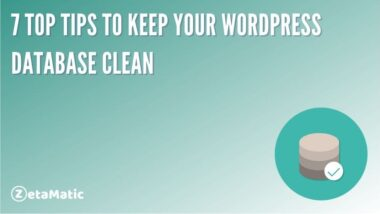 7 Top Tips to Keep Your WordPress Database Clean