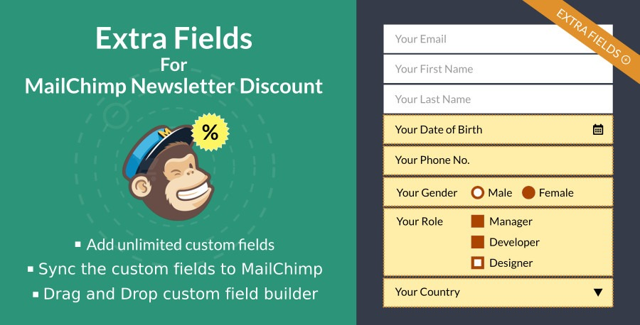 Extra Fields For MailChimp Newsletter Discount plugin, YITH Essential Kit for WooCommerce #1, wordpress ecommerce plugin for 2019